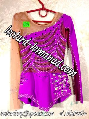 Purple rhythmic gymnastics leotard LeMaNaD